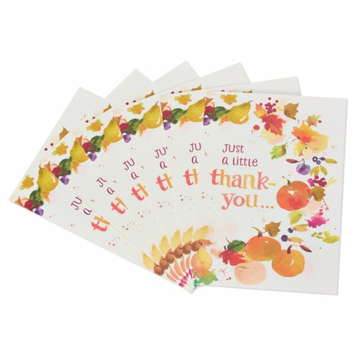 American Greetings Thinking of You Card, 6-Count (Leaves and Pumpkins) Perspective: front