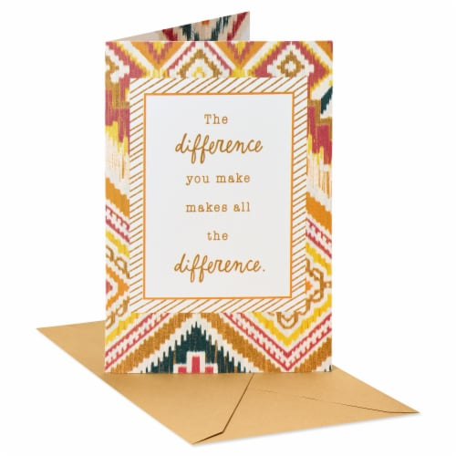 American Greetings Thank You Card (All the Difference) Perspective: front