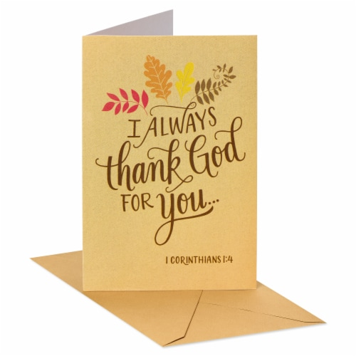 American Greetings Religious Thank You Card (Thank God) Perspective: front