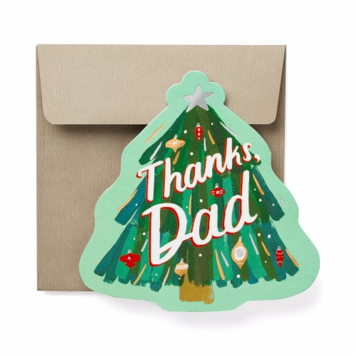 American Greetings Thanks Christmas Greeting Card For Dad Perspective: front