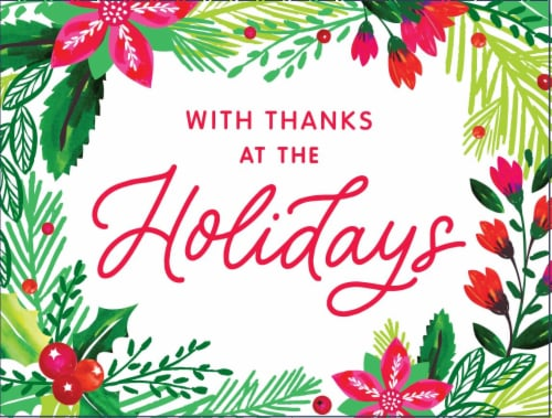 American Greetings Holly Christmas Thank You Cards with Envelopes Perspective: front