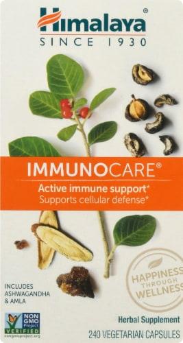 Himalaya ImmunoCare Herbal Supplement Vegetarian Capsules Perspective: front