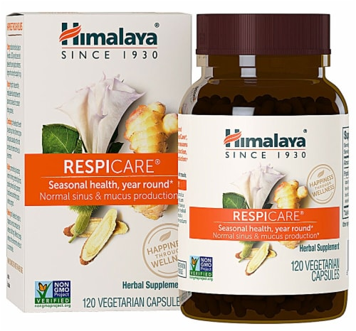 Himalaya RespiCare Vegetarian Capsules Perspective: front