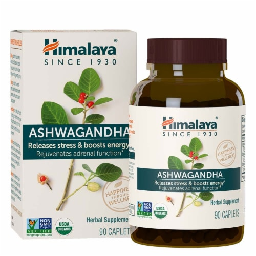 Himalaya Herbal Healthcare Ashwagandha 90 Count Perspective: front