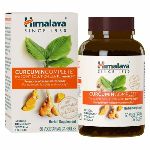 Himalaya Herbal Healthcare Curcumin Complete 60 Count Perspective: front