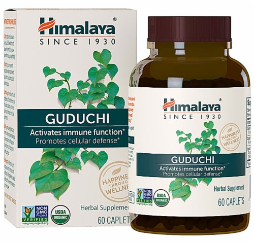 Himalaya Organic Guduchi Caplets Perspective: front