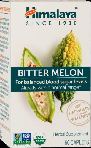 Himalaya Herbal Healthcare Bitter Melon Herbal Supplement Caplets Perspective: front