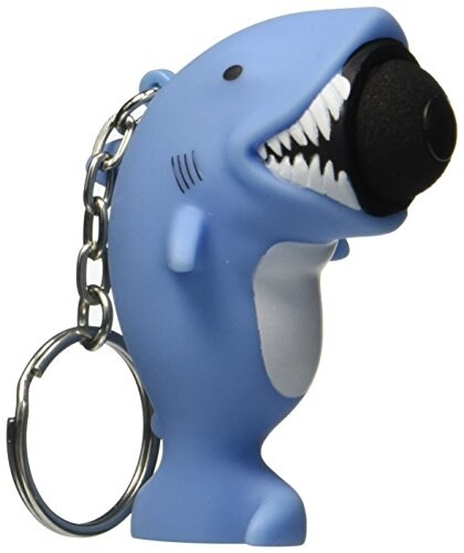 Hog Wild Toys Popper Shark Keychain Perspective: front