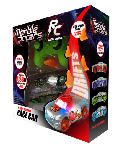Remote Control Marble Racer - Green Perspective: front