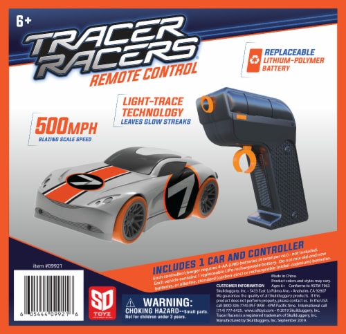 Tracer Racers RC - Orange Car Perspective: front