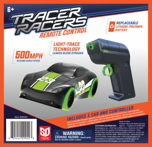 Tracer Racers RC - Green Car Perspective: front