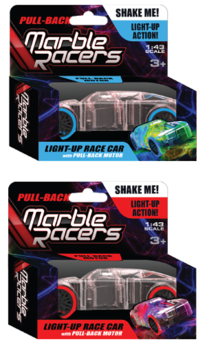 Pull-Back Marble Racers 2 Pack Perspective: front