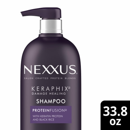 Nexxus Keraphix Damage Healing ProteinFusion Shampoo Perspective: front