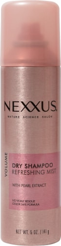 Nexxus Pearl Extract Dry Shampoo Refreshing Mist Perspective: front