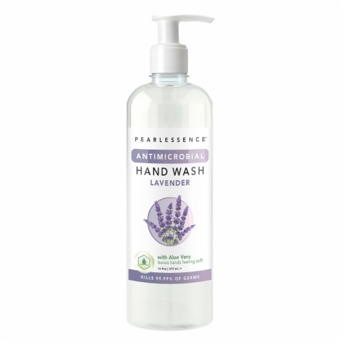 Pearlessence Antimicrobial Lavender Hand Wash Perspective: front