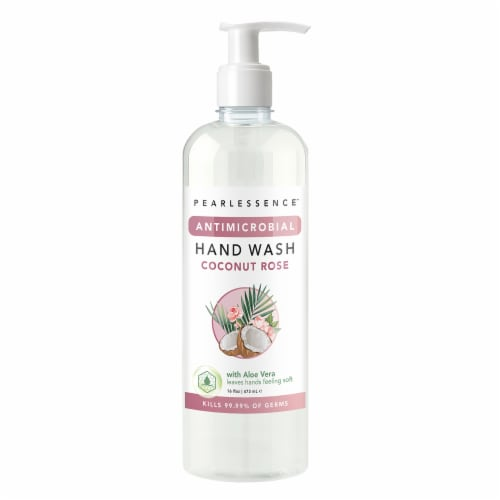 Pearlessence Antimicrobial Coco Rose Hand Wash Perspective: front