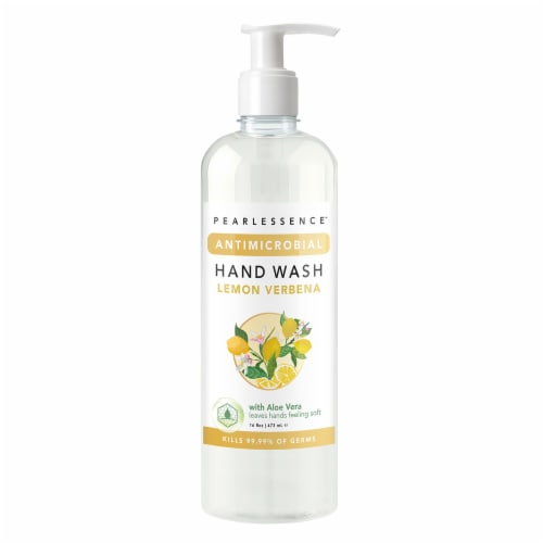 Pearlessence Antimicrobial Lemon Verbena Hand Wash Perspective: front