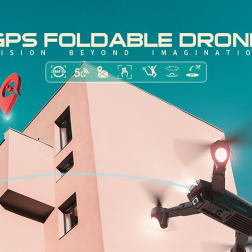 Vantop VTSP500 Snaptain Foldable GPS FPV Drone with 1080P HD Camera Live Video for Beginners Perspective: front