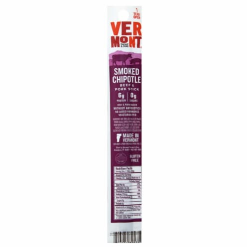 Vermont Smoke & Cure Beef & Pork Realstick Chipotle Natural Perspective: front
