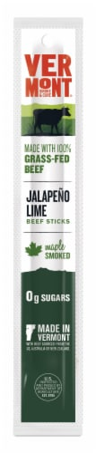 Vermont Smoke & Cure Jalapeno Lime Beef Stick Perspective: front