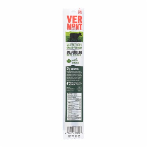 Vermont Smoke And Cure - Beef Sticks Jalap Lime - Case of 24 - 1 OZ Perspective: front
