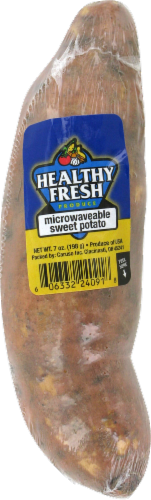 Healthy Fresh Produce Sweet Potato Perspective: front