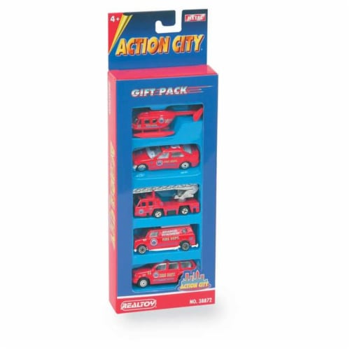 Daron Worldwide Trading  RT38872F Fire Dept. 5 Piece Vehicle Gift Pack Perspective: front
