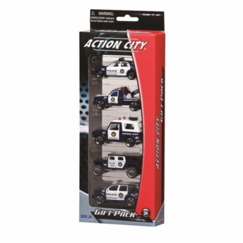 Daron Worldwide Trading  RT38872P Police Dept. 5 Piece Vehicle Gift Pack Perspective: front