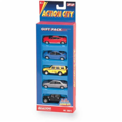 Daron Worldwide Trading  RT38872S Street Car 5 Piece Vehicle Gift Set Perspective: front