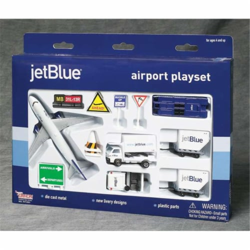Daron Worldwide Trading  RT1221 Jetblue 14PC Airport Play Set Perspective: front