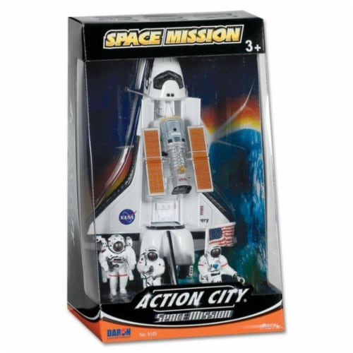Daron Worldwide Trading  RT38125 Space Shuttle 4 Piece Play Set Perspective: front