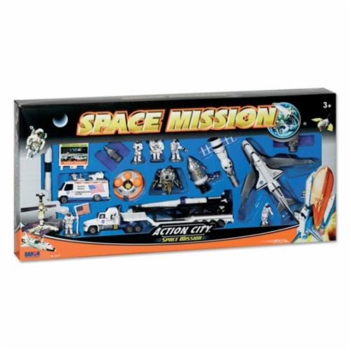 Daron Worldwide Trading  RT38147 Space Shuttle 20 Piece Playset Perspective: front