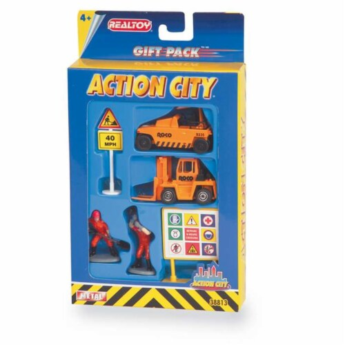 Daron Worldwide Trading  RT38813 Construction Vehicle 6 Piece Gift Pack Perspective: front