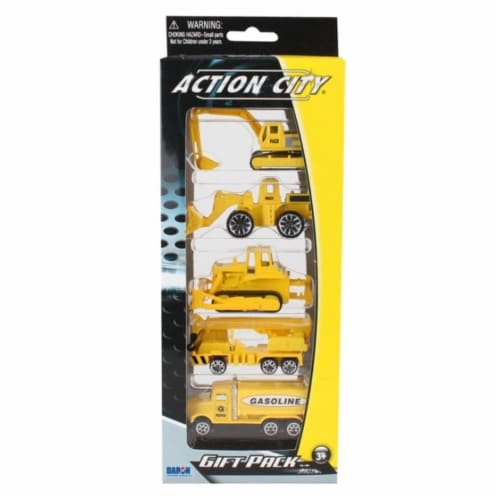 Daron Worldwide Trading  RT38814 5 Piece Construction Vehicle Gift Pack Perspective: front