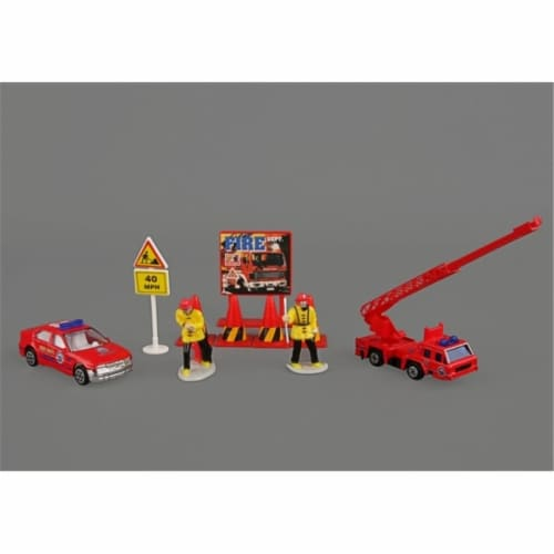 Daron Worldwide Trading  RT38941F Fire Dept 10 Piece Gift Set Perspective: front