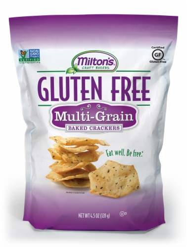 Milton's Craft Bakers Gluten Free Multi-Grain Baked Crackers Perspective: front