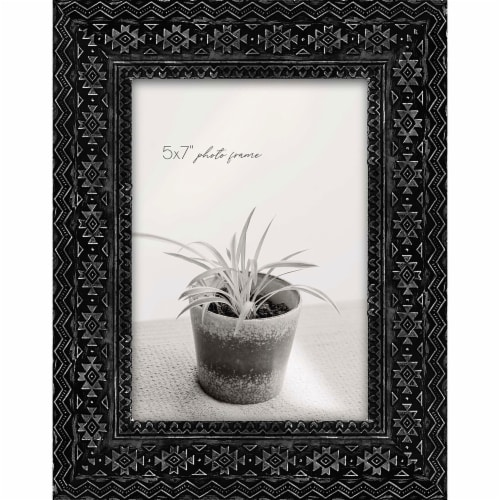 New View 5x7 inch Picture Frame - Black Pendleton Perspective: front