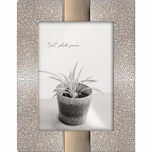 New View 5x7 inch Picture Frame- Silver / Gold Perspective: front