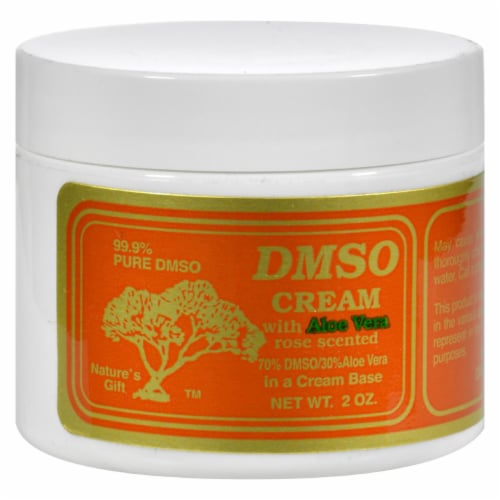 DMSO  Cream with Aloe Vera Rose Scented Perspective: front