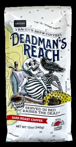 Raven's Brew Deadman's Reach Dark Roast Ground Coffee Perspective: front