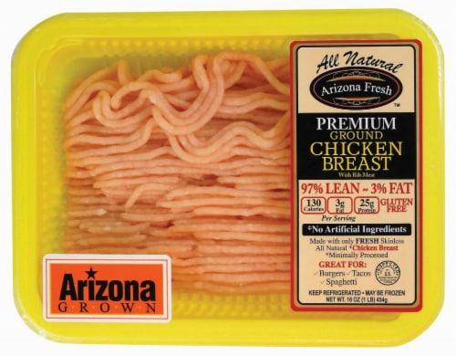 Denmark Foods Arizona Fresh Premium Ground Chicken Breast 97% Lean Perspective: front