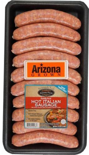 Denmark Foods Arizona Fresh Hot Italian Sausage Links Perspective: front