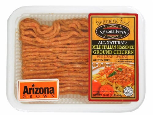 Denmark Mild Italian Seasoned Ground Chicken 95% Lean Perspective: front