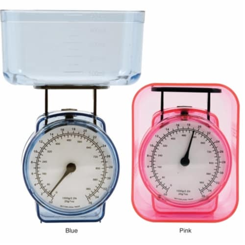 KitchenWorthy 150-AKSB Kitchen Scales (Pack of 25) - Blue Perspective: front