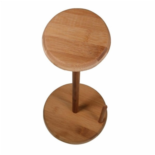KitchenWorthy 290-BPTH Bamboo Paper Towel Holder, Brown Perspective: front