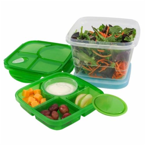KitchenWorthy 290-6PMBS 6 Piece Meal Set with Ice Pack - Clear Perspective: front