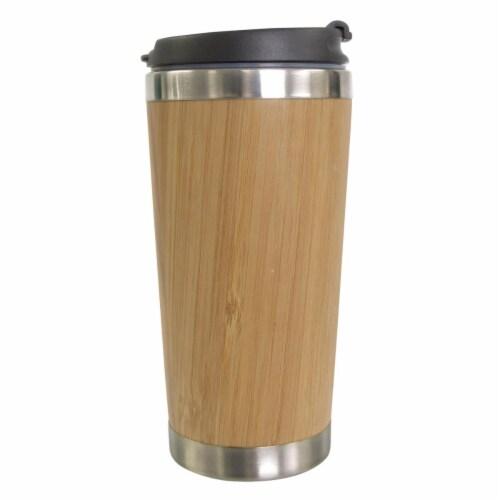 KitchenWorthy 290-BTMUG Bamboo Travel Mug, Tan Perspective: front