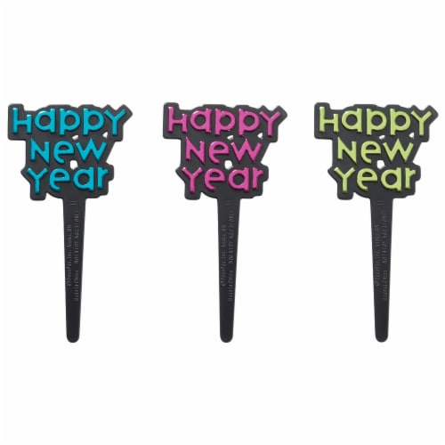 DecoPac Happy New Year Cake Decorations Perspective: front