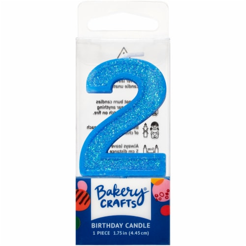 DecoPac Two Birthday Candle Cake Decoration - Blue Perspective: front