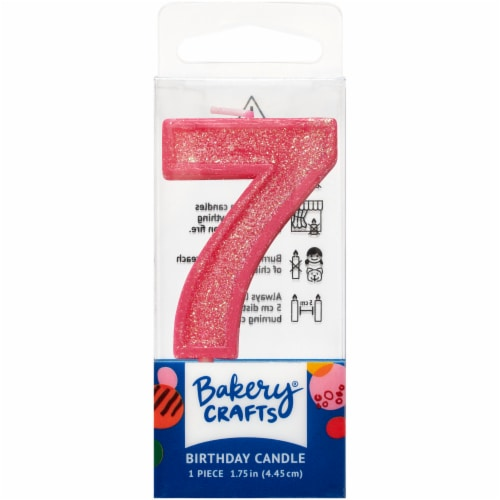 DecoPac Seven Birthday Candle Cake Decoration - Pink Perspective: front